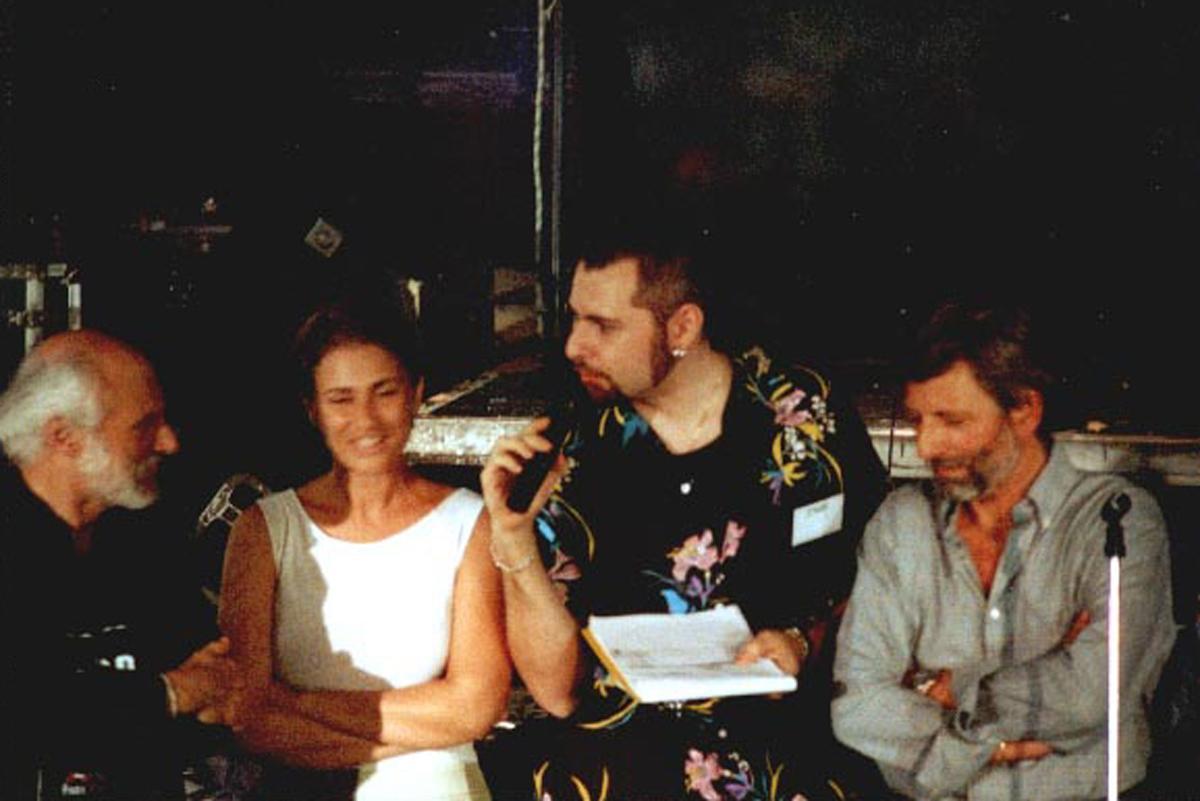 2000 - Prima Notte delle Sigle - Claudio con Georgia Lepore e Massimo Cantini al Piper di Roma