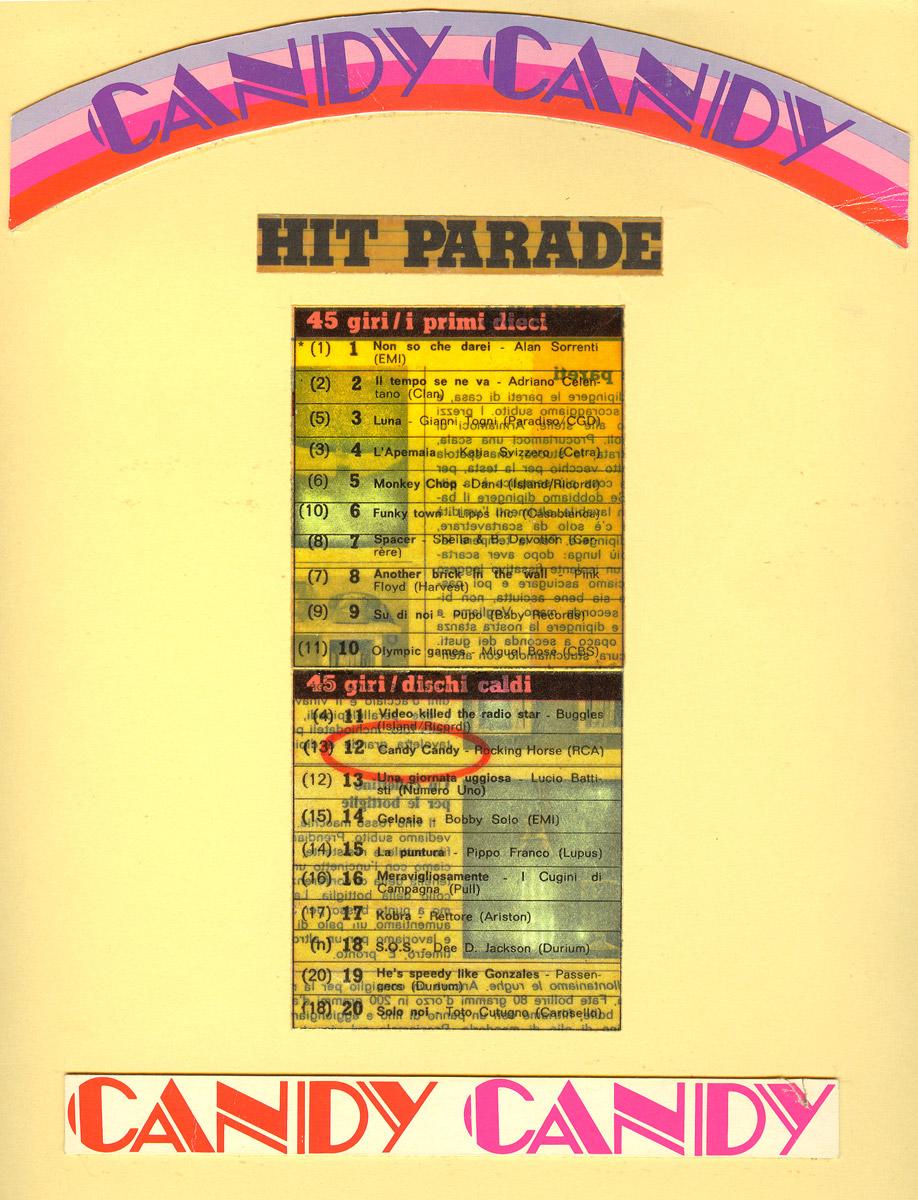 Candy Candy al 12° posto della Hit Parade