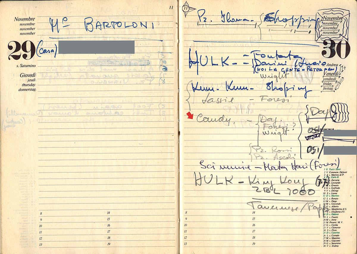 Il 30 novembre 1979 ci sono ancora cinque brani in gara per Candy Candy - Il punto interrogativo sottolinea l'incertezza di Olimpio
