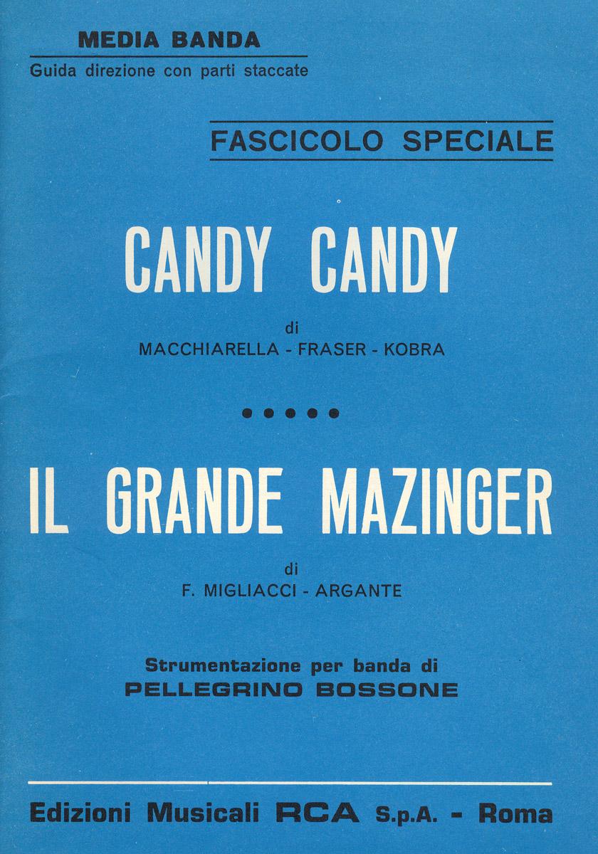 Copertina dell'arrangiamento per banda di Candy Candy e il Grande Mazinger