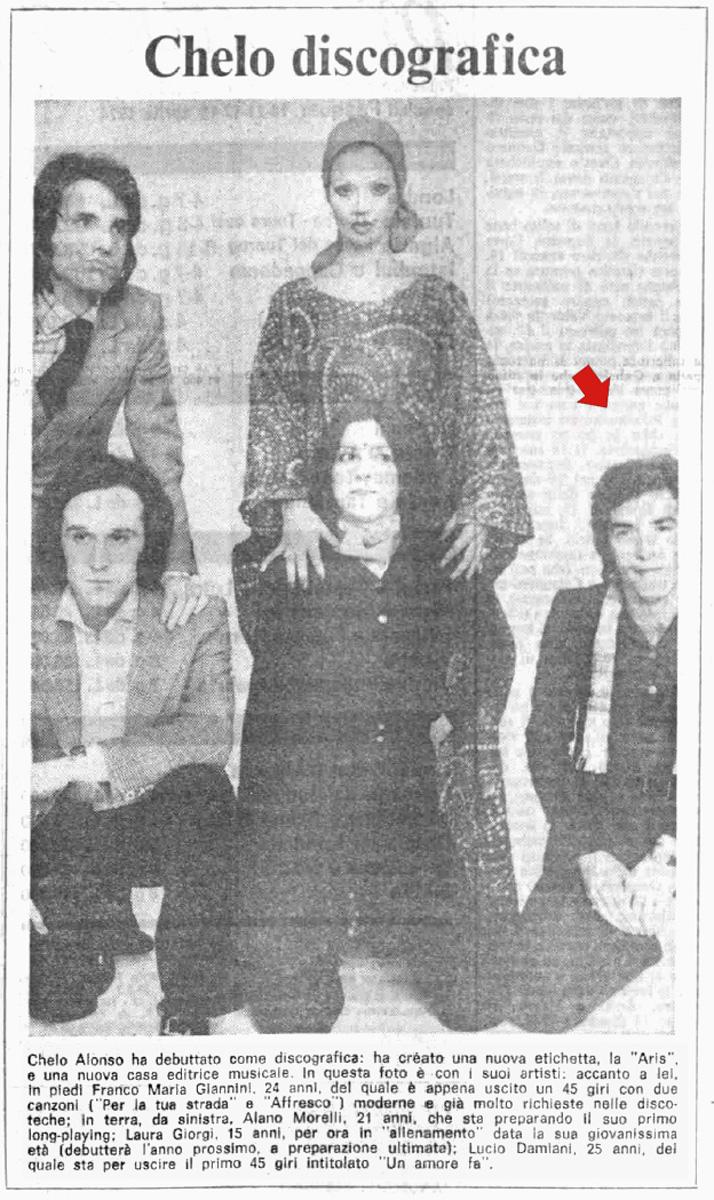 Il Messaggero 8 aprile 1974 - Quando Jimmy stava per esordire come cantante con il nome di Lucio Damiani
