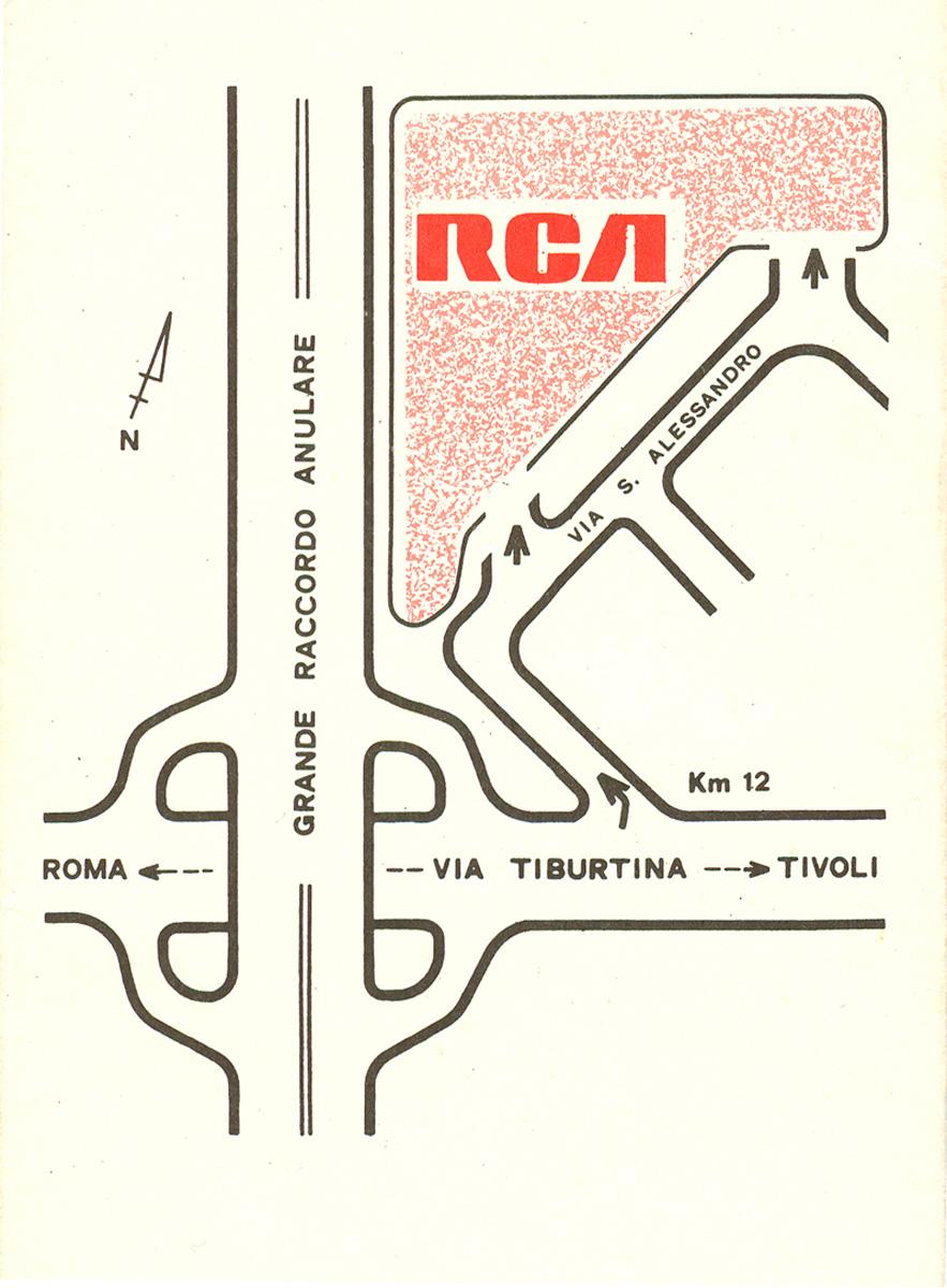 La piantina che spiega il posizionamento della RCA sul Grande Raccordo Anulare di Roma