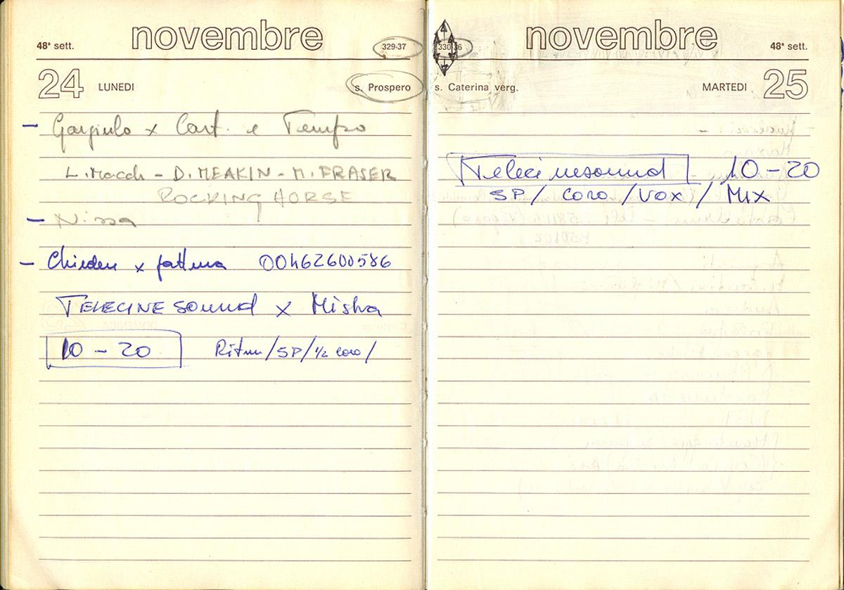 Il 24 e 25 novembre 1980 i Rocking Horse tornano in studio per registrare Mysha