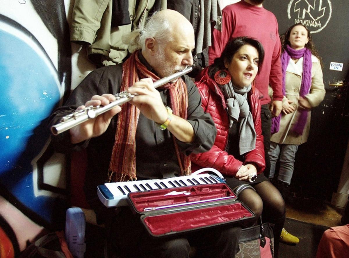 Esibizione con il flauto traverso