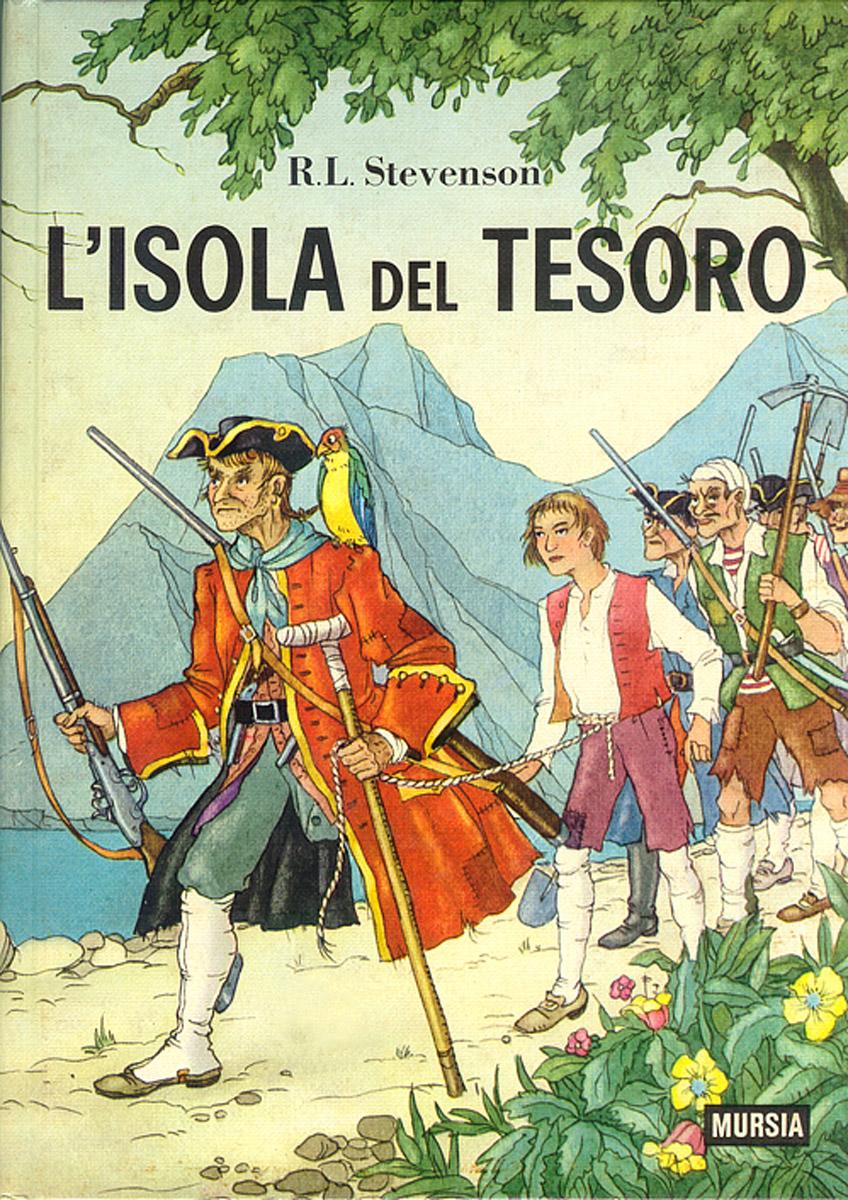 Copertina del libro dell'Isola del Tesoro comprato da Lucio per un po' d'ispirazione in più