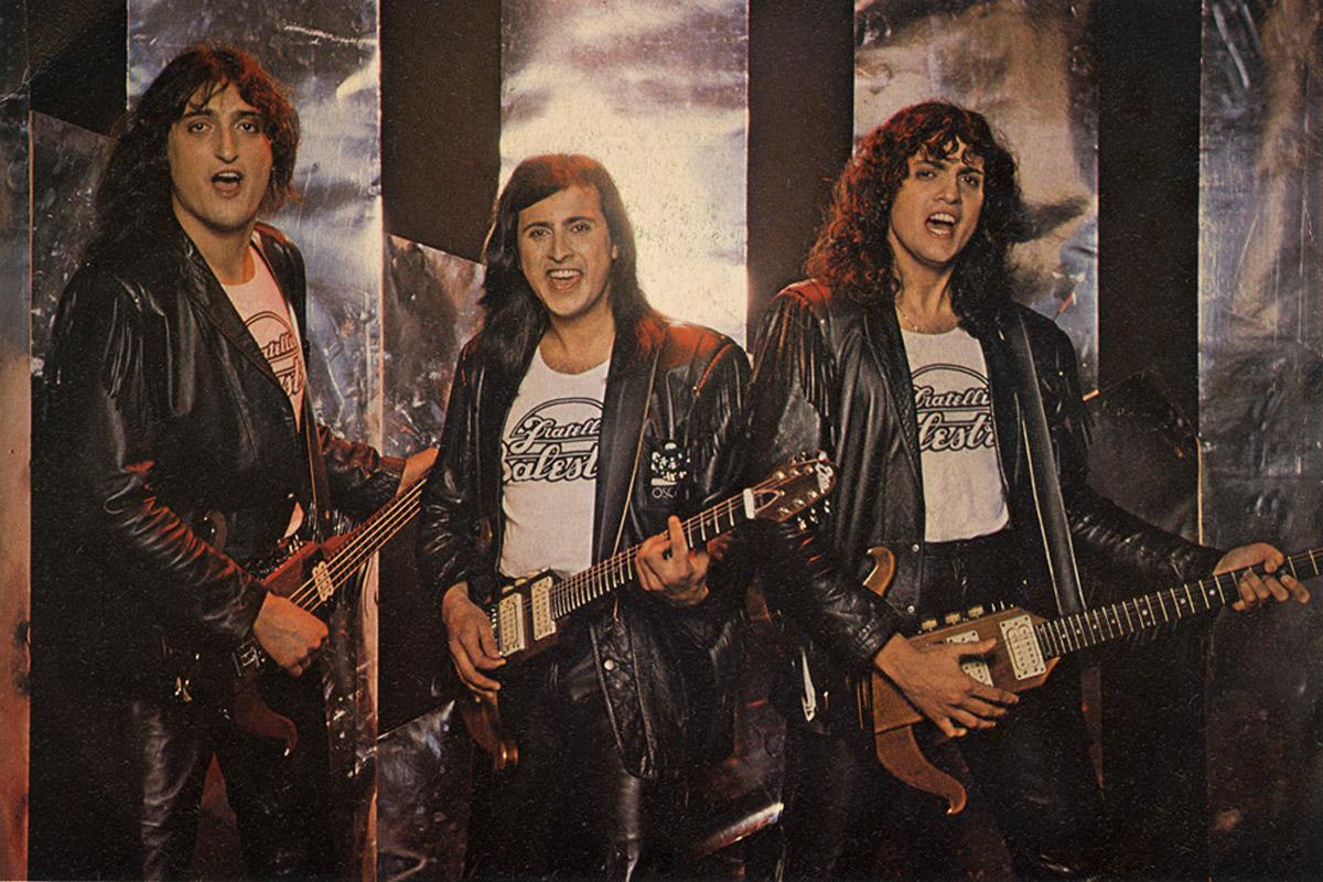 1981 - I fratelli Balestra fotografati per la copertina del loro 45 giri Salvami