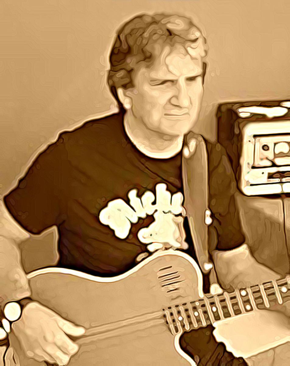 Mick in un acquerello digitale