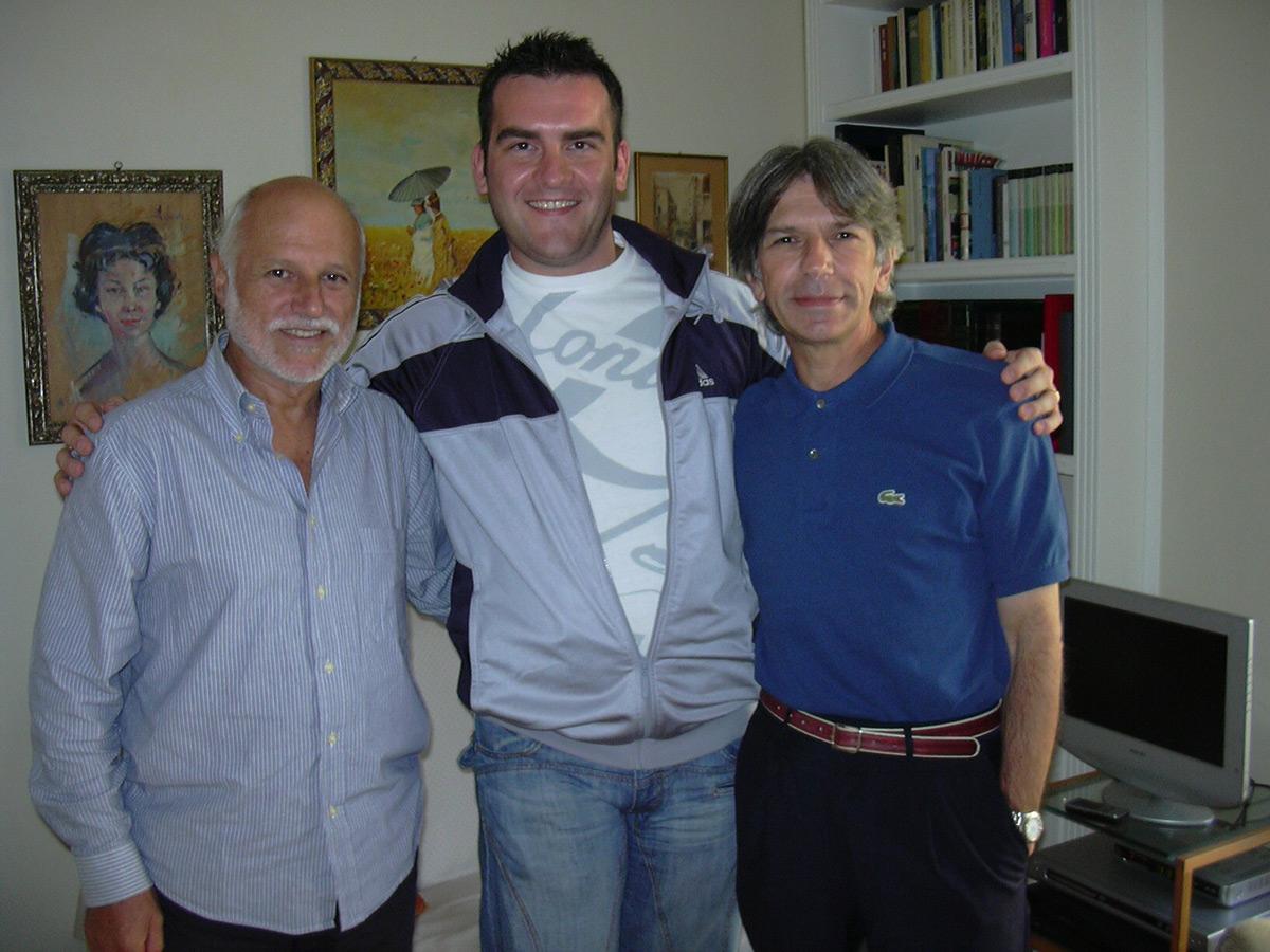 2007 - Con Claudio e Fighi (ideatore del sito Kokuto No Ken.it)