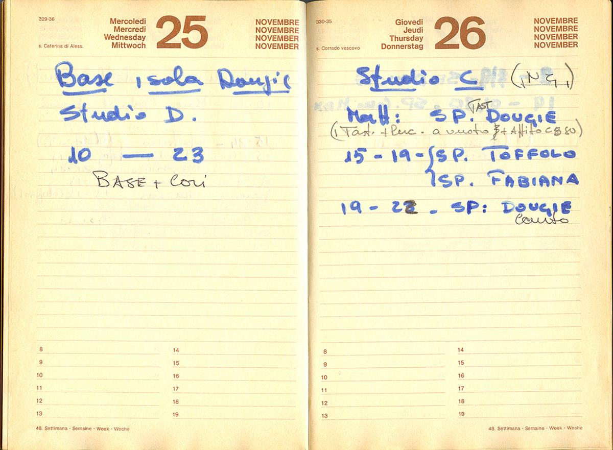 25 e 26 novembre 1981 - Negli studi D e C si registrano due Isole del Tesoro, quella dei Rocking Horse e quella di LinoToffolo