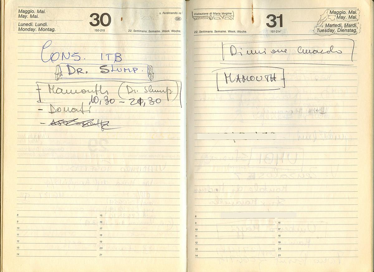 Nello studio Mammouth di Bobby Solo si registra Il Dr. Slump e Arale - E' il 30 maggio del 1983