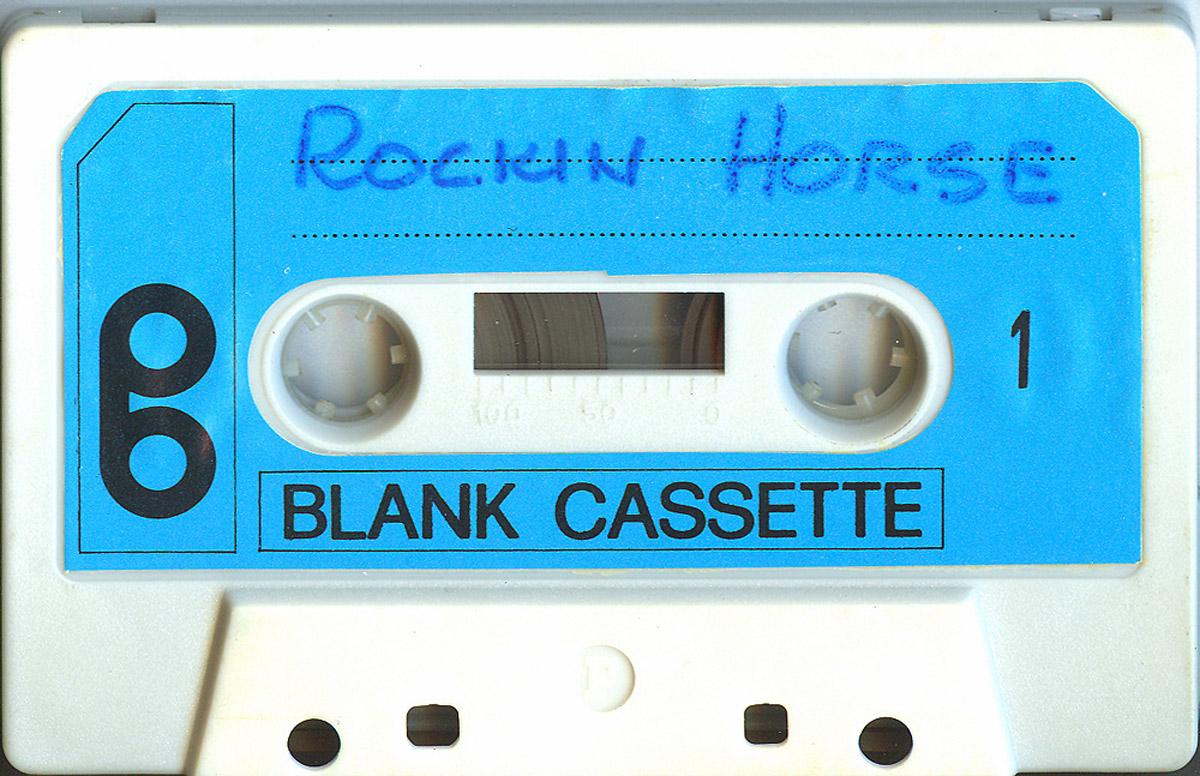 La cassetta di Olimpio con i provini dei Rocking Horse